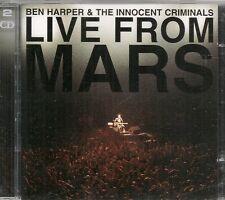 2 CD ALBUM 25 TITRES--BEN HARPER & THE INNOCENT CRIMINALS--LIVE FROM MARS 2001