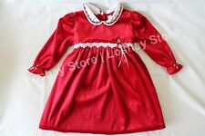 Christmas Girl 2 T Toddler Ninas 2T Red Dress Velvet Embroidered Flowers Holiday
