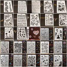 Various Airbrush Template Painting Stencils DIY Decor Scrapbooking Album Craft