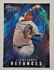 "2016 TOPPS BUNT DELLIN BETANCES ""LIGHTFORCE"" 5X7 JUMBO ART CARD #/49 YANKEES"