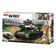 Sluban Kids Army Tank Building Blocks WWII Series Building Toy 2 in 1 Tank 687pc
