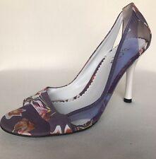 NEW BCBG Floral Peep Toe Lavender Runway Shoes Sz 6 & 8 Avail