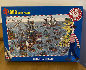 Where's Wally 1000 Piece Jigsaw - Being A Pirate - Paul Lamond Games - Complete