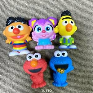Lot 5 Little People Mattel Sesame Street Workshop Cookie Monster Bert Ernie Abby
