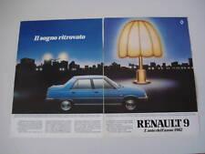 advertising Pubblicità 1982 RENAULT 9