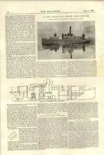 1896 New Floating Steam Fire Engine Photographs Section Greenwich Works