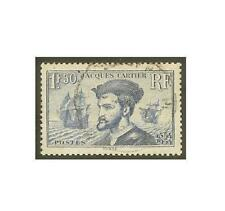 "FRANCE N°297""JACQUES CARTIER1F50 BLEU"" OBLITERE TB"