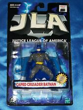 "BATMAN CAPED CRUSADER: 5"" Figure w/Collector Display Stand, JLA, Hasbro-1999"
