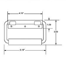 Penn Elcom Metal 2356 Surface Mount Spring Loaded Speaker Case Handle W/ Screws