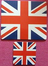 UNION FLAG UNION JACK MOUSE MAT AND COASTER DESK SET HOME OFFICE SOUVENIR