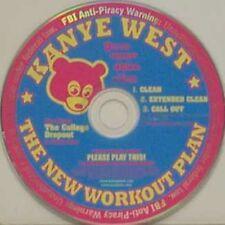 KANYE WEST New Workout Plan EXTENDED MIX & CLEAN 2TRX PROMO DJ CD Single