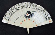Vintage années 1920 art déco peint à la main celluloid Brise Fan-Pierrot clown