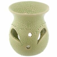 Green Textured Wax Warmer/Burner & pack of 10 Handpoured Scented Melts