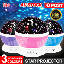 New Kids Room LED Night Light Star Sky Projector Lamp Rotating Starry Baby Gift