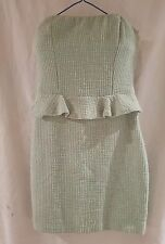 ZARA TRAFALUC collection strapless green dress Euro and Uk size small.