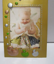 """3.5x5"""" Gold Baby Picture Photo Frame With Pink  Green Ducks"""