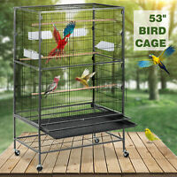"""53"""" Large Bird Pet Cage Large Play Top Parrot Finch Cage Macaw Cockatoo"""