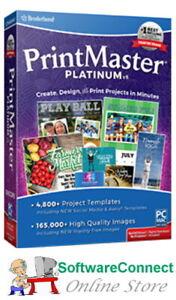 Broderbund PrintMaster 8 Platinum Print Master GENUINE GUARANTEE