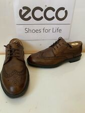Ecco Atlanta Smart Leather Brogue Shoes Size UK 9 EU 43