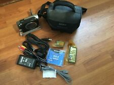 VERY CLEAN! Sony HANDYCAM DCR-DVD203 DVD Camcorder Bundle *LOW SHIPPING*