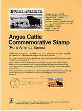8c Angus Cattle SP334 Sc#1504 Oct 5 1973 Souvenir Page