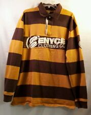 ENYCE CLOTHING CO. MEN'S MULTI COLOR RUGBY LONG SLEEVE SHIRT SIZE XXL
