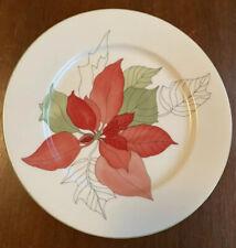 "Block Spal Poinsettia 8"" Salad/Dessert Plates Mary Lou Goertzen Excellent!!"