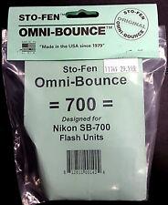 NEW Sto-Fen Stofen Omni-Bounce Hotshoe Flash Diffuser OM-700 for Nikon SB700