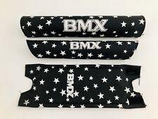NOS BMX Polster Set Pad Set NEU Old School Retro Schwarz Weiß 3-teilig