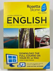 Rosetta Stone - English Full Course Online Subscription with Download 2-Year Sub