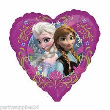 "DISNEY FROZEN PARTY SUPPLIES HEART SHAPE 17"" (45cm) ANNA ELSA FOIL BALLOON"