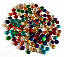 200 ! Hot Fix or Iron On or Stick on Colourful 8 mm Discs/Gems 4 D I Y