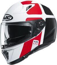 HJC i70 Prika weiß rot schwarz MC1 Gr. L Motorradhelm mit Sonnenblende