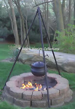 """Tripod Adjustable w/Cable and pulley 70"""" high Heavy Duty Outdoor Camp Survival"""