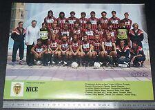 CLIPPING POSTER FOOTBALL 1986-1987 OGC NICE OGCN NISSA RAY AIGLONS