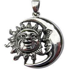 Plata Esterlina (925) colgante de sol y la luna (7 gramos)!!!!!! nuevo!!!!!!