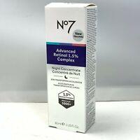 No 7 Advanced Retinol 1.5% Complex Night Concentrate 30ml/1fl.oz. New In Box
