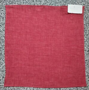 Brunello Cucinelli Pocket Square Handkerchief 100% Linen col.Red plain RRP £150