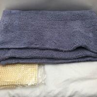 """Tomoro 100% Cotton Blue Bathroom Accent Rug Bath Mat Non-Slip Rug Pad 24"""" x 39"""""""