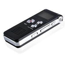 4/8/16GB Wiederaufladbar Stahl Digital Klang- Diktiergerät MP3 Player