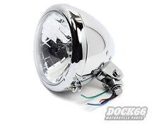 """5 ¾"""" Scheinwerfer Klarglas Smooth design für Harley-Davidson, Custom und Chopper"""