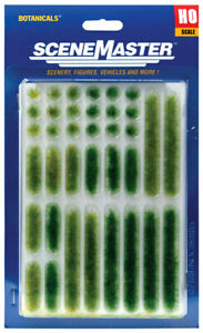 Walthers HO Scale Scenery Kit Grass Tufts & Strips 18 Each Summer