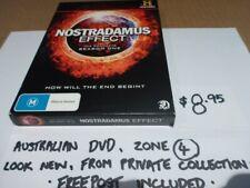 DVD - NOSTRADAMUS EFFECT - LOOKS NEW, AUST ZONE 4 FREE POST