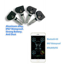 Car Bluetooth 4.0 TPMS Monitor Alarm System Andriod IOS Tire 4 Internal Sensors