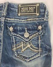 Miss Me Low Rise Stretch Buckle Denim Bermuda Girls's Shorts 10 x 12 JK1046M