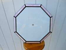 Vintage Stained Glass PINK WHITE Ceiling Lamp Light Fixture