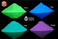 Glow in The Dark Fluorescent Pigment Powder Colours for Paint PlastiDip Nail