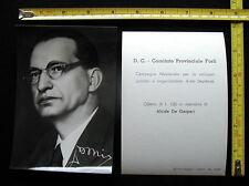 1948 Fotografia Politica Partito Democrazia Cristiana  FORLI'  ALCIDE DE GASPERI