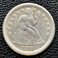 1841 O Seated Liberty Dime 10c High Grade XF + New Orleans #17247