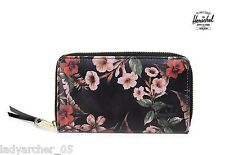 New Authentic Herschel Supply Thomas Leather Wallet - Floral Leather